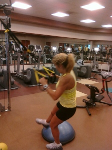 Prep for TRX 1 Leg BOSU Squat